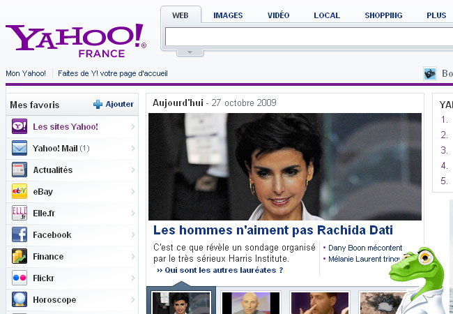 Yahoo.fr Messenger et Mail France