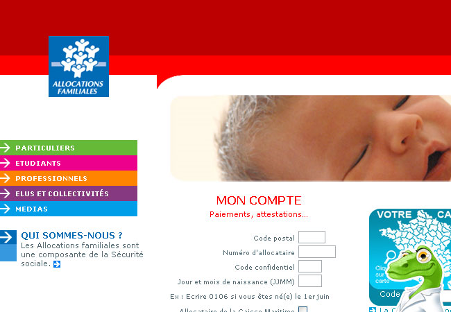 Caf.fr Mon compte