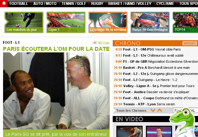 Lequipe.fr Football, Rugby, Tennis