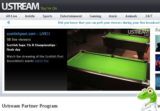 Ustream.TV Live Sport, Football